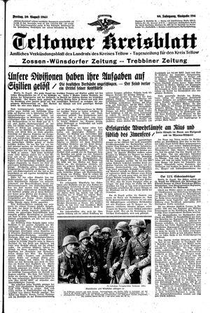 Teltower Kreisblatt vom 20.08.1943