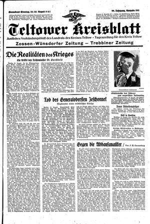 Teltower Kreisblatt vom 21.08.1943