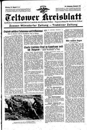 Teltower Kreisblatt vom 23.08.1943