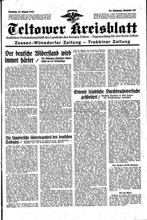 Teltower Kreisblatt vom 24.08.1943