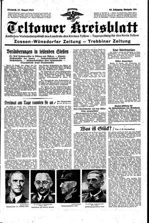Teltower Kreisblatt vom 25.08.1943