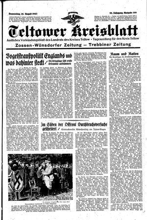 Teltower Kreisblatt vom 26.08.1943