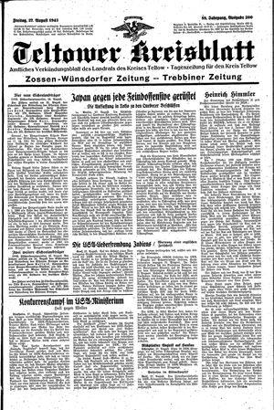 Teltower Kreisblatt vom 27.08.1943