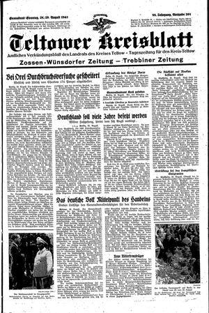 Teltower Kreisblatt vom 28.08.1943