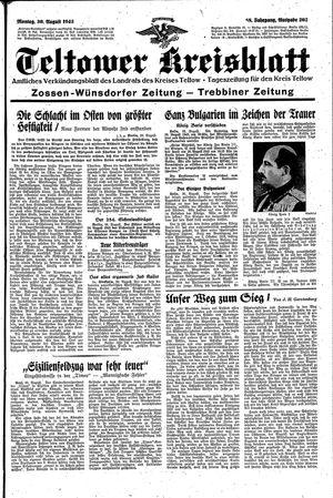 Teltower Kreisblatt vom 30.08.1943