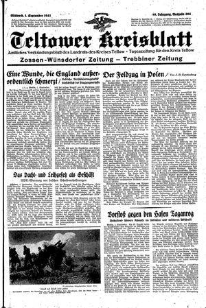Teltower Kreisblatt vom 01.09.1943