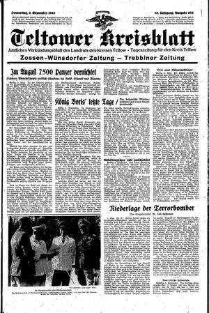 Teltower Kreisblatt vom 02.09.1943