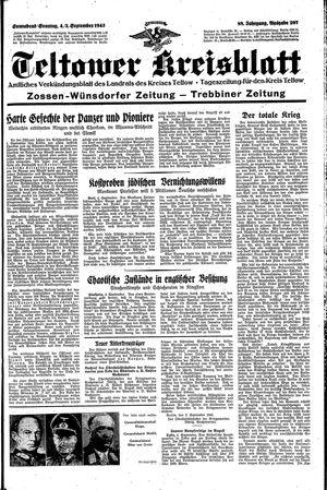 Teltower Kreisblatt vom 04.09.1943