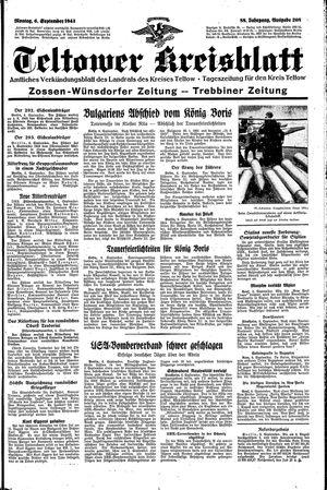 Teltower Kreisblatt vom 06.09.1943