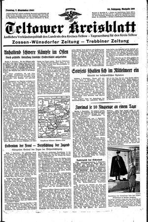 Teltower Kreisblatt vom 07.09.1943