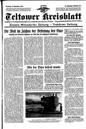 Teltower Kreisblatt vom 14.09.1943