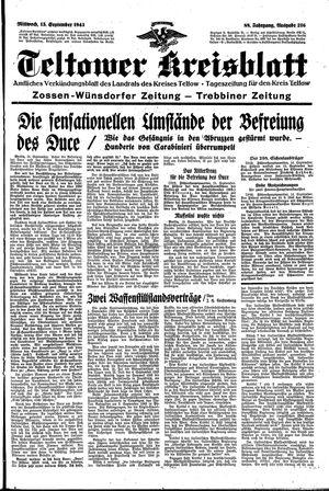 Teltower Kreisblatt vom 15.09.1943