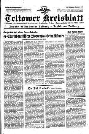 Teltower Kreisblatt vom 17.09.1943