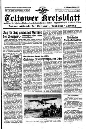 Teltower Kreisblatt vom 18.09.1943
