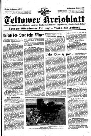 Teltower Kreisblatt vom 20.09.1943