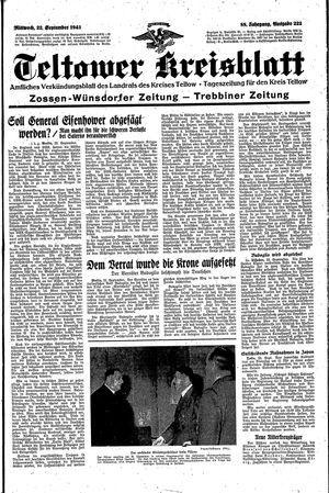 Teltower Kreisblatt vom 22.09.1943