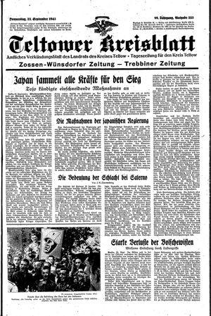 Teltower Kreisblatt vom 23.09.1943