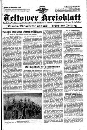 Teltower Kreisblatt vom 24.09.1943