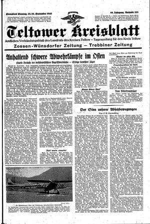 Teltower Kreisblatt vom 25.09.1943
