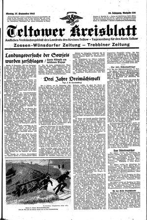 Teltower Kreisblatt vom 27.09.1943