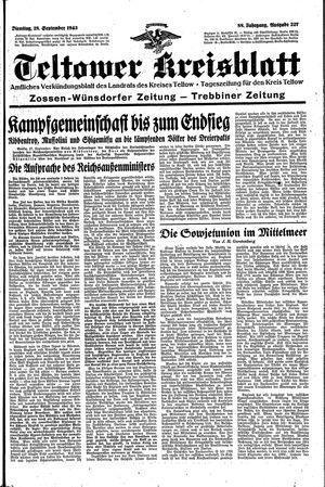 Teltower Kreisblatt vom 28.09.1943