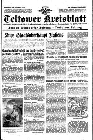 Teltower Kreisblatt vom 30.09.1943