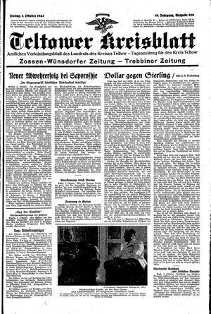 Teltower Kreisblatt vom 01.10.1943