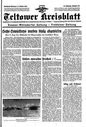 Teltower Kreisblatt vom 02.10.1943