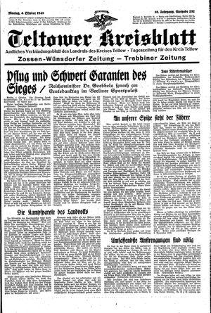 Teltower Kreisblatt vom 04.10.1943