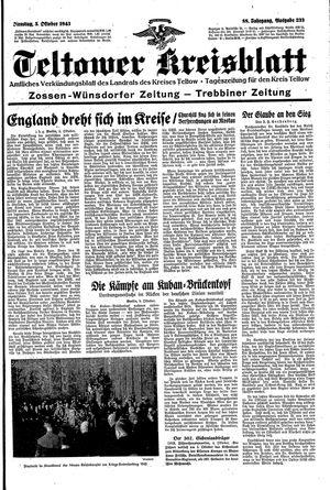 Teltower Kreisblatt vom 05.10.1943