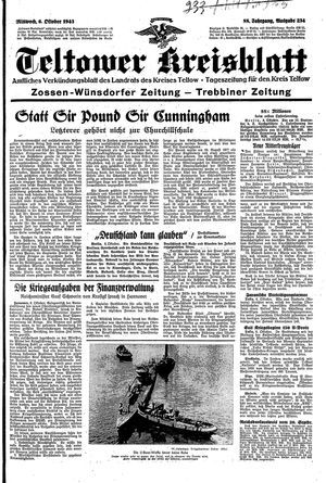 Teltower Kreisblatt vom 06.10.1943