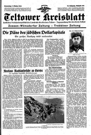 Teltower Kreisblatt vom 07.10.1943