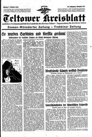 Teltower Kreisblatt vom 08.10.1943