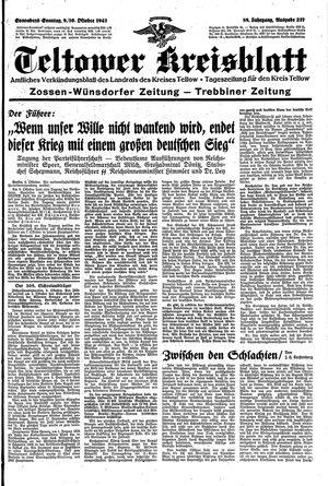 Teltower Kreisblatt vom 09.10.1943
