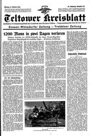 Teltower Kreisblatt vom 11.10.1943