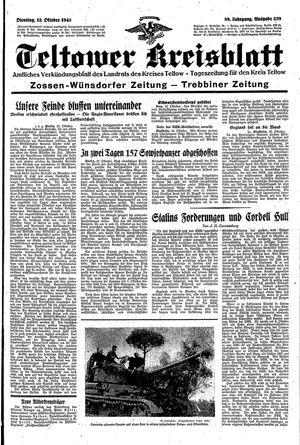 Teltower Kreisblatt vom 12.10.1943