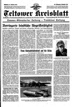 Teltower Kreisblatt vom 13.10.1943