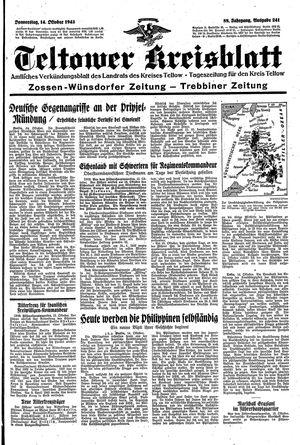 Teltower Kreisblatt vom 14.10.1943