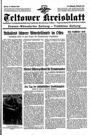 Teltower Kreisblatt vom 15.10.1943