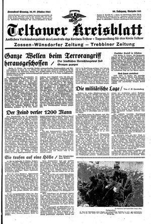 Teltower Kreisblatt vom 16.10.1943