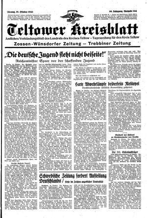 Teltower Kreisblatt vom 18.10.1943