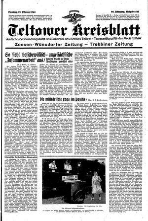 Teltower Kreisblatt vom 19.10.1943