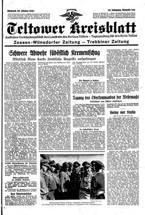 Teltower Kreisblatt vom 20.10.1943