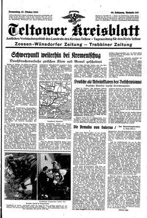 Teltower Kreisblatt vom 21.10.1943