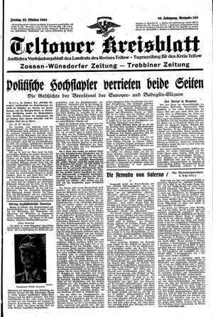 Teltower Kreisblatt vom 22.10.1943