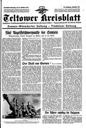 Teltower Kreisblatt vom 23.10.1943