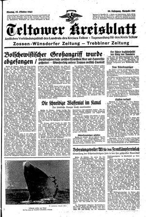 Teltower Kreisblatt vom 25.10.1943