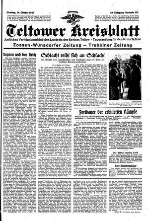 Teltower Kreisblatt vom 26.10.1943