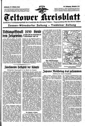 Teltower Kreisblatt vom 27.10.1943