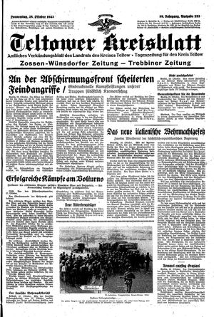 Teltower Kreisblatt vom 28.10.1943